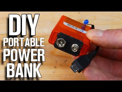 How To Make Emergency Power Bank - Tic Tac Portable Phone Charger