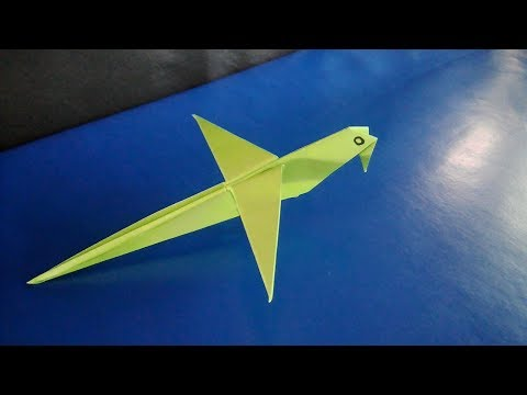 How To Make A Paper Origami Parrot - Paper Bird - Paper Crafts