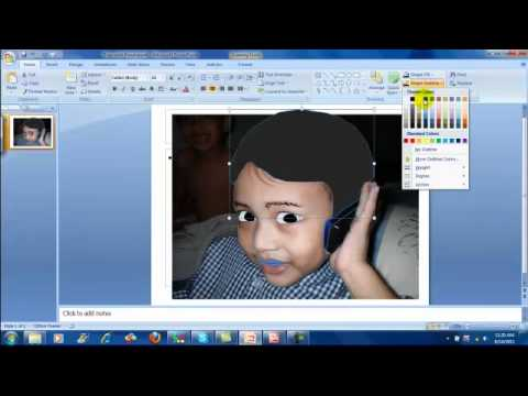 Drawing Portrait With Microsoft Powerpoint