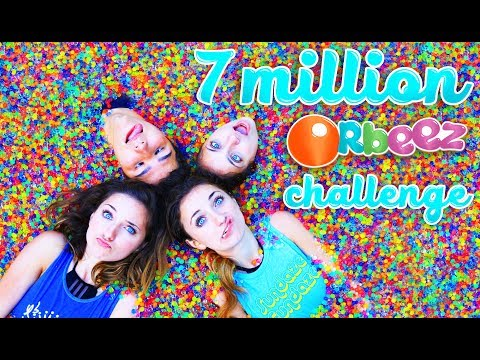watch 7 MILLION ORBEEZ IN OUR SPA | Toy Scavenger Hunt Challenge with KamriNoel
