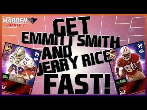 QUICKEST WAY TO GET EMMITT SMITH AND JERRY RICE   Madden Mobile 16