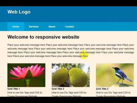 How to create HTML and  CSS Responsive Layout Part-2 (Bangla)