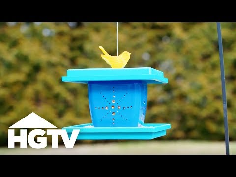 DIY Flower Pot Birdfeeder - Way to Grow - HGTV