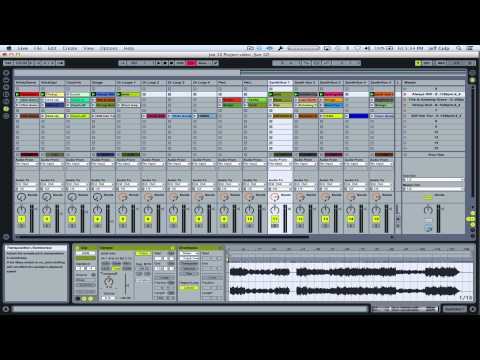 Ableton LIVE Tutorial - Transposing songs (session view)