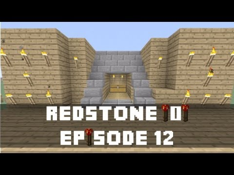 Minecraft Xbox 360 -  How to make a Hidden Staircase Entrance (Redstone Torch Key Activated) (Xbox)