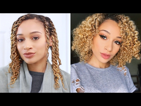 Soft & Fluffy Curls! Two Strand Twist-Out Tutorial