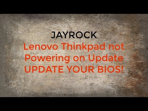 Lenovo Thinkpad Power on Issues UPDATE YOUR BIOS!