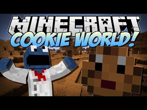Minecraft | COOKIE WORLD MOD! (Cookie Zombies, Slime Cookies & More!) | Mod Showcase