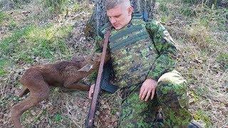 حيوان مسكين اقترب من جندي ، وما حدث بعد ذلك لا يصدق