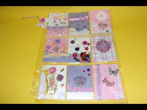A Springy Pocket Page with Peg Stamps, a Snail Mail Gift