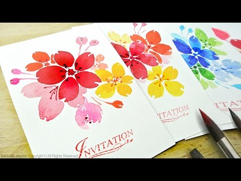 Watercolor Floral Invitations / DIY Handmade Cards - Level 2