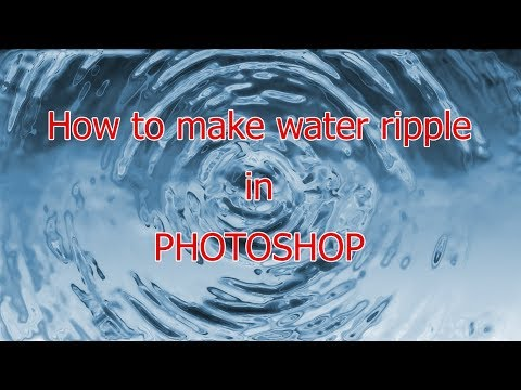 How to make water ripple | Photoshop Tutorial | 2017