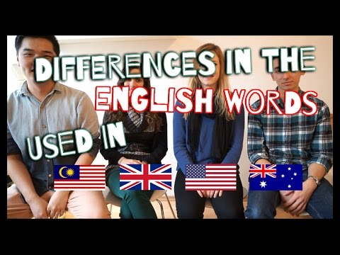 [Language] Differences in English Words (UK, US, AU, MY)
