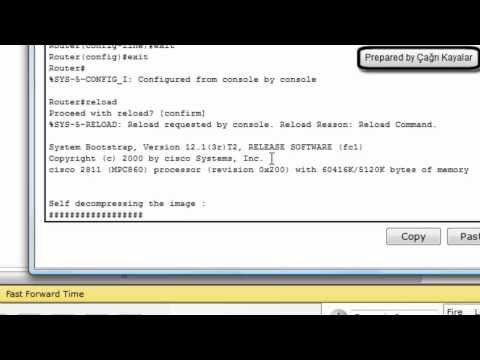 cisco packet tracer - password reset (router 2811)