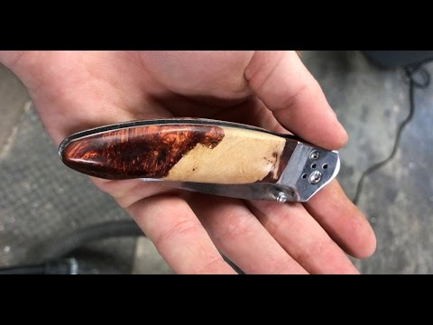 Making A Folding Knife From Grapevine & Alumilite Resin