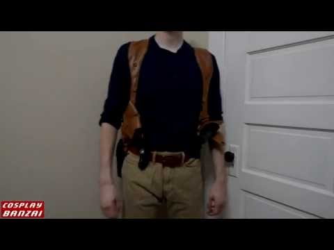 Cosplay Log: #5 Prop gun holster with full harness test fit. (Nathan Drake cosplay)
