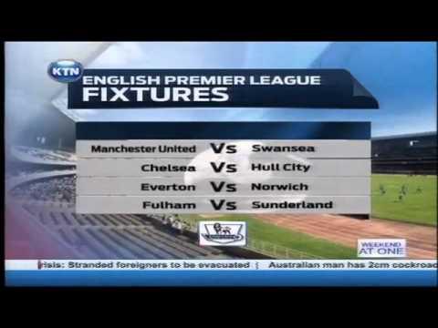 English premier league fixtures