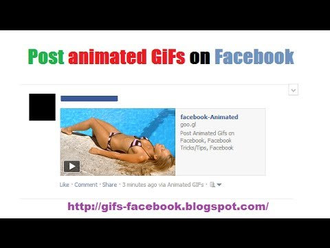 How to post animated Gifs on facebook (2014) By Gifs-Facebook