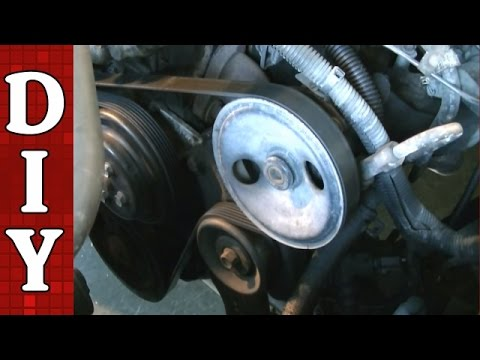 How to Remove and Replace a Serpentine Belt and Tensioner - Dodge Dakota 2.5L Engine