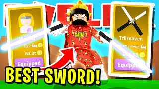 Download I GOT THE NEW *RAREST* SWORD IN ROBLOX SABER SIMULATOR AND USED IT TO DEFEAT THE BULLIES!! Video