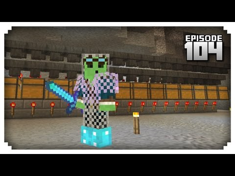 Let's Play Minecraft PE - Ep.104 : Automatic Storage Room