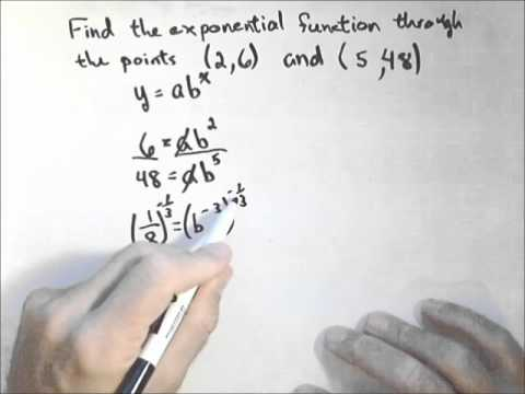 Finding an Exponential Function