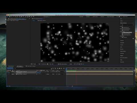 After Effects Tutorials: How to slow down the particles in after effects.