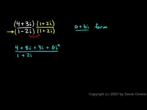 Algebra 2  4.4i - Complex Numbers, Part 9 - Complex Conjugates