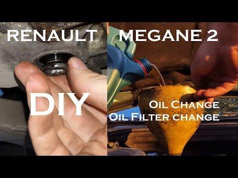 Renault Megane 2 Engine Oil filter and oil change DIY