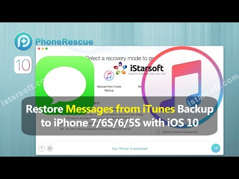 Restore Messages from iTunes Backup to iPhone 7/6S/6/5S with iOS 10