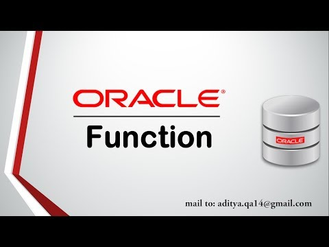 PL/SQL Tutorial | Function in Oracle Database | User Defined Function