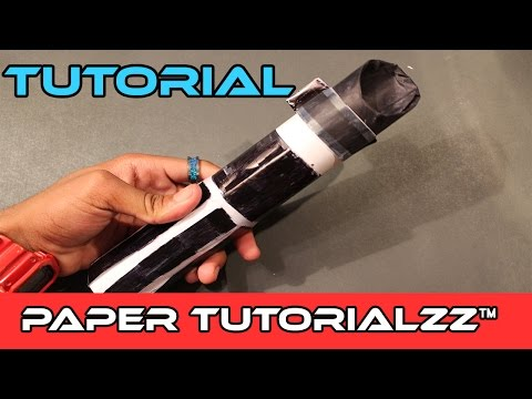 How To Make a Paper Lightsaber Hilt  (Tutorial)