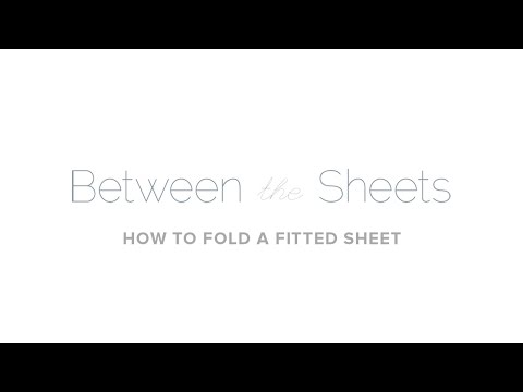 How to Fold a Fitted Sheet via Au Lit Fine Linens