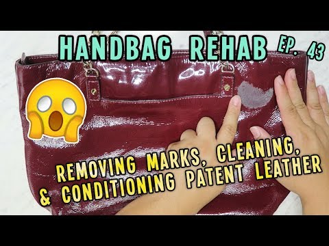 REMOVING MARKS, CLEANING, & CONDITIONING PATENT LEATHER | HANDBAG REHAB EP. 43