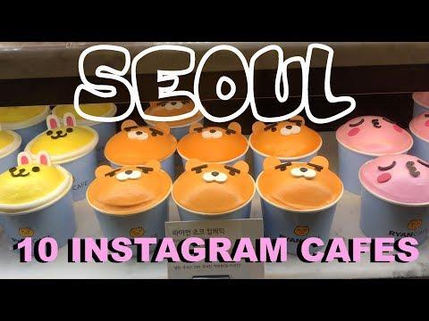 💕10 Best Cafes ☕ in Seoul, Korea (📷Instagram Famous Cafes💗) | Seoul Travel Guide | Korea VLog