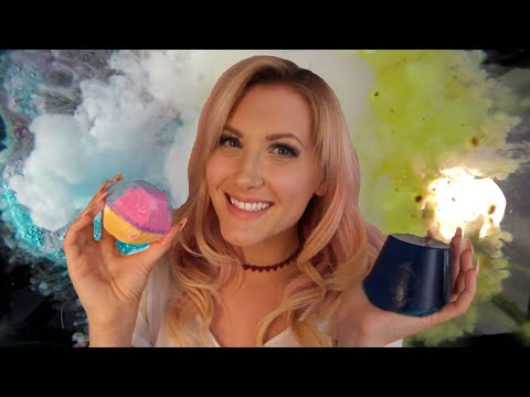 LUSHious Bath Time ASMR + Slow Mo + Underwater Cam - [Bath Bombs, Bath Gloves, Bath Salts, & More]