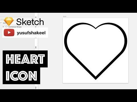 HEART icon - Sketch - dyIcons - E01 - Yusuf Shakeel