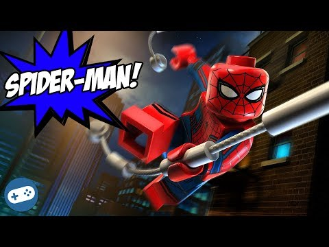 Lego Marvel's Avengers Spiderman and Vision Free Roam Gameplay