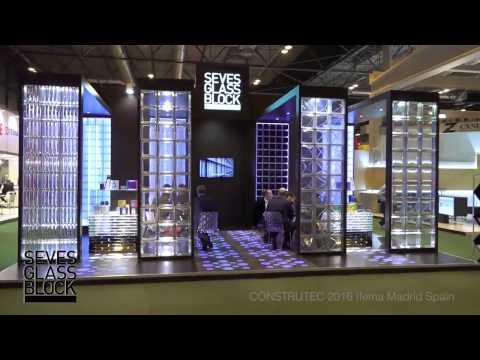 Seves Glass Block Showcase at Constructec 2016 Madrid, Spain
