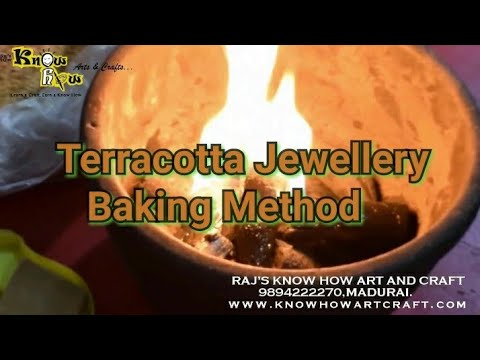 How to Bake Terracotta Jewellery in your home