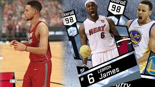 NBA 2K17 My Team - Diamond Finals Curry and Heat LeBron Debut! PS4 Pro 4K