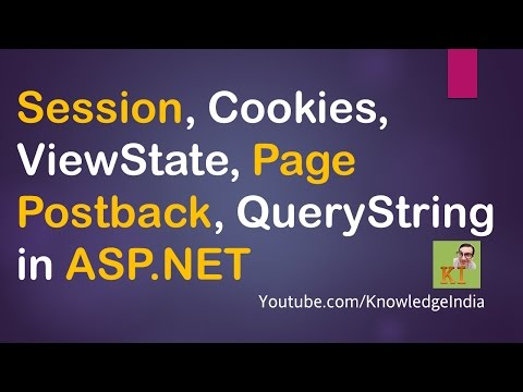 Session, Cookies, Viewstate, QueryString, Page Postback in ASP.net | English