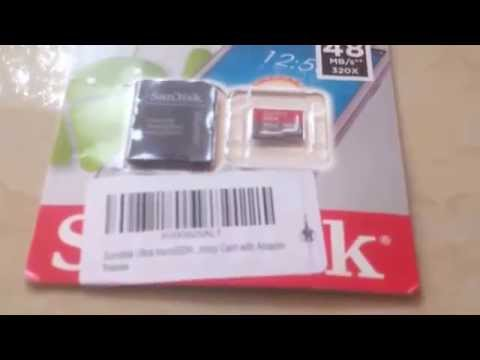 Unboxing  Sandisk Ultra Micro SD Class 10 32GB Memory Card from India