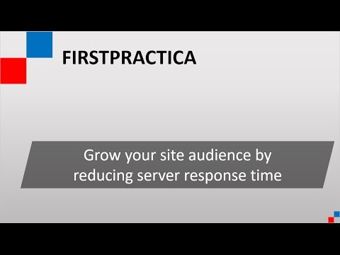 How to reduce server response time