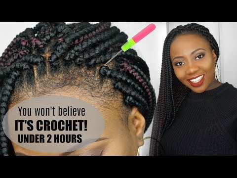 HOW TO CROCHET BOX BRAIDS TUTORIAL   FREE PARTING    LOOKS SOO REAL... YOU WON'T BELIEVE IT!