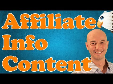 Information CONTENT for your AFFILIATE WEBSITE with Doug Cunnington