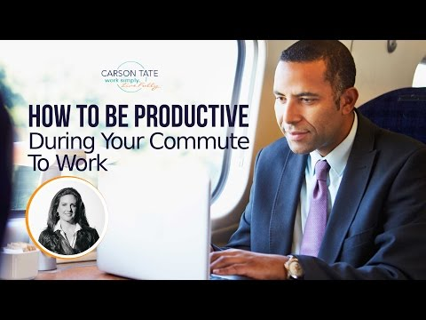 How To Be Productive During Your Commute To Work