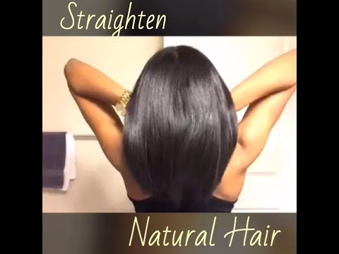 Blow Out & Flat Iron Natural Hair