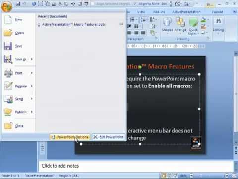 Tutorial : Setting PowerPoint 2007 Macro Security Level