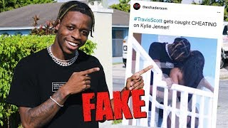 We Fooled the Internet w/ Fake Travis Scott Cheating Photo